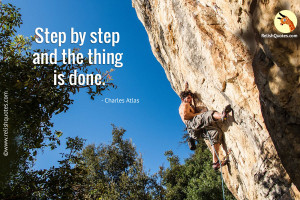"""Step by step and the thing is done."" – Success Quote"