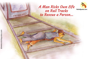 Unbelievable True Story – A Man Risks Own Life on Rail tracks to Rescue a Person!