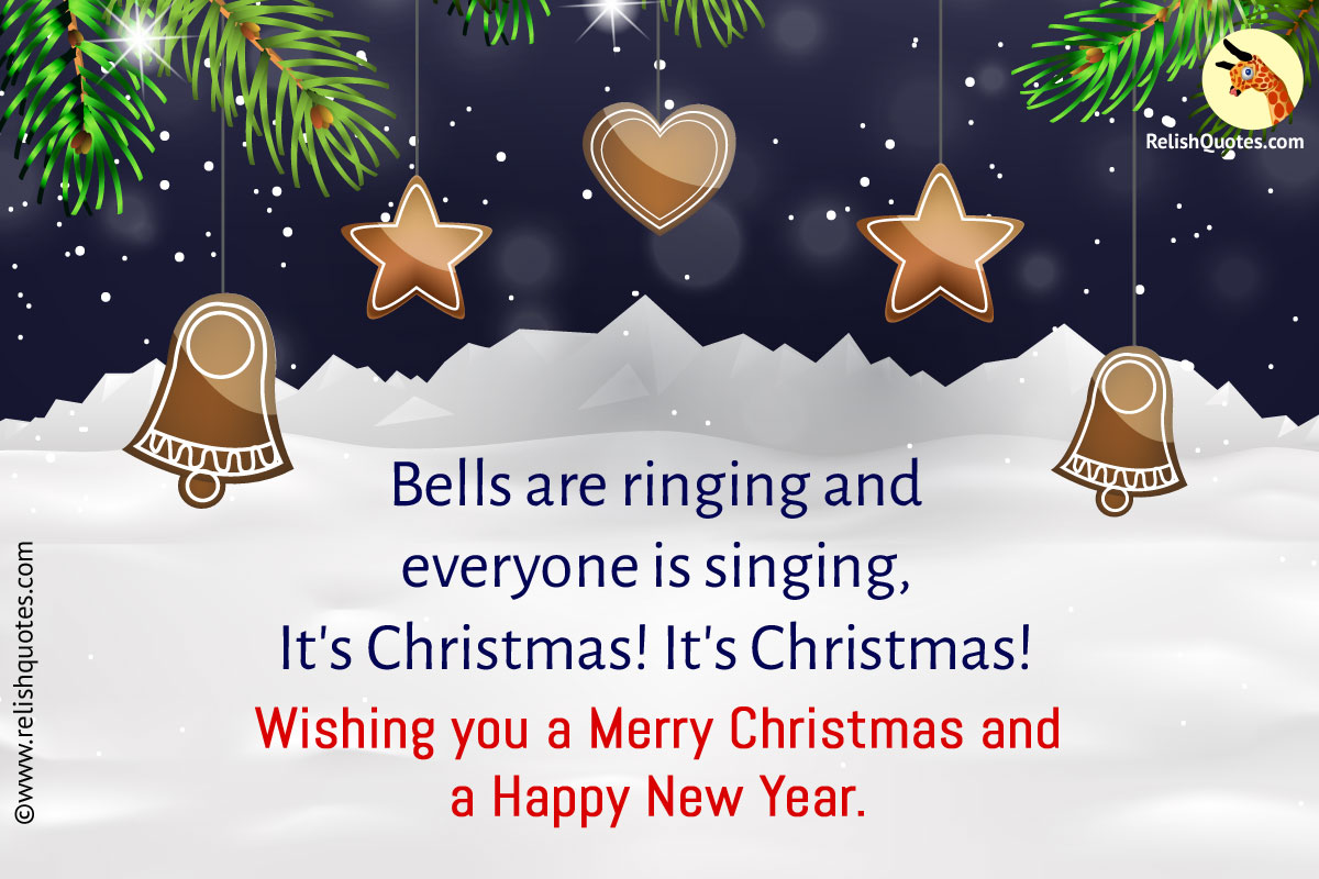 Happy New Year and Merry Christmas Quotes For Cards