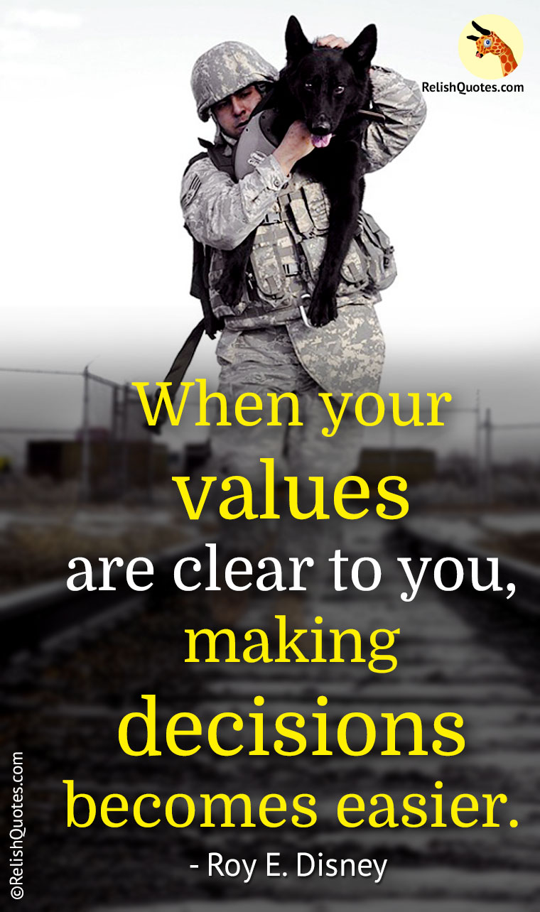 When Your Values Are Clear To You Making Decisions Becomes Easier
