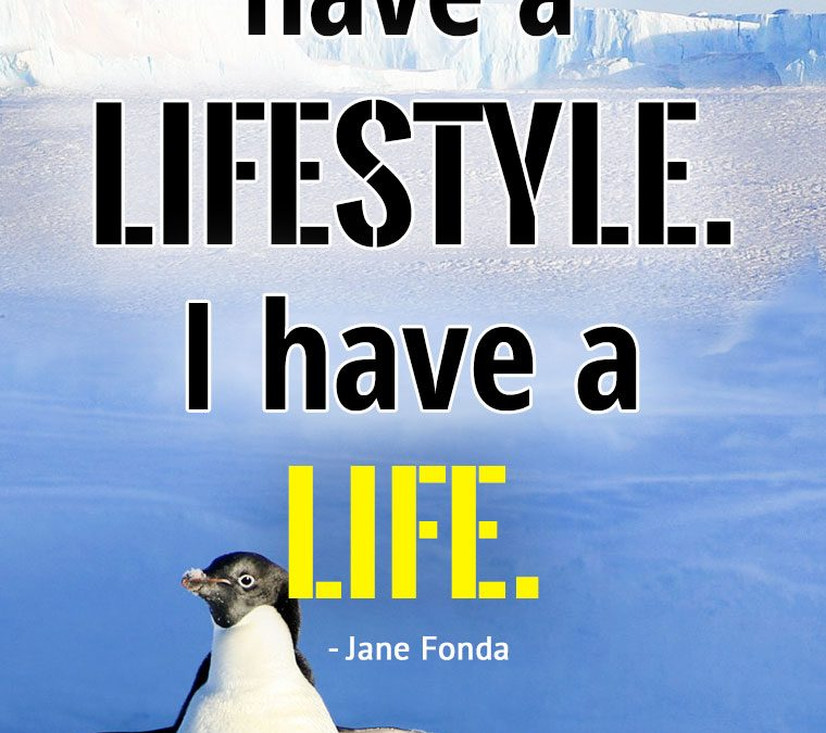 """I don't have a lifestyle. I have a LIFE."""