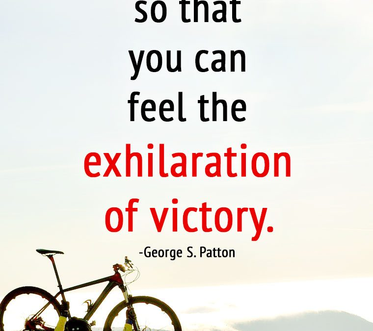 """Accept the CHALLENGES so that you can feel the exhilaration of VICTORY."""
