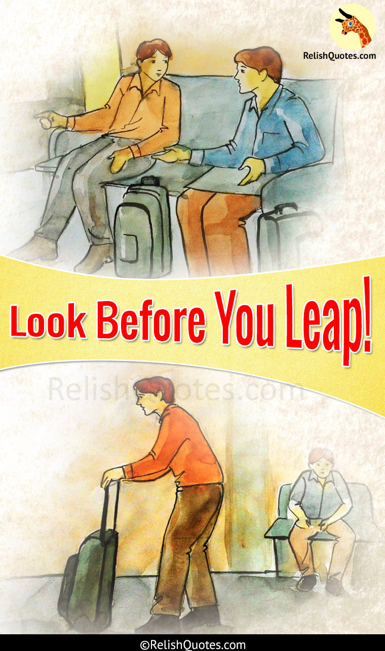 Short Story – Look Before You Leap!
