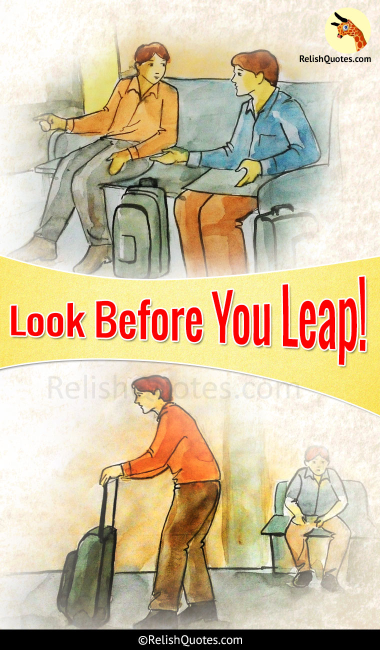 Short Story - Look Before You Leap